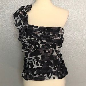 NWT Charlotte Russe Ruffled One Shoulder Top